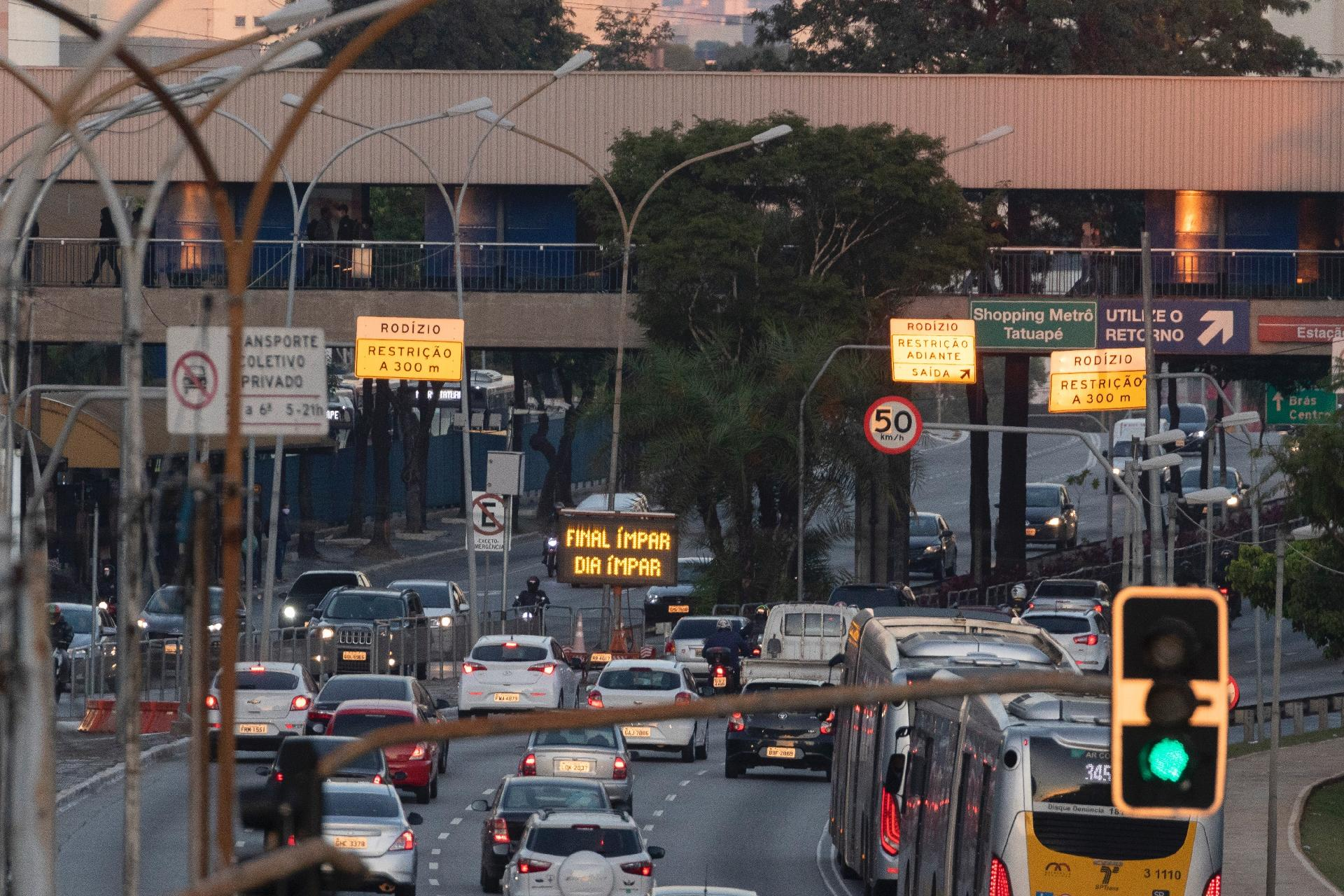Rodizio municipal para o Covid em São Paulo